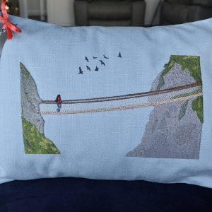 carrick-a-rede cushion