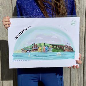 A3 Whitehead print