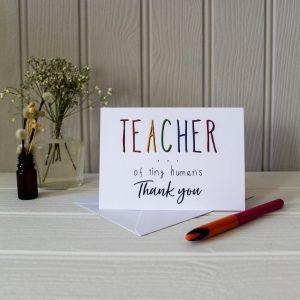 D&J teacher card