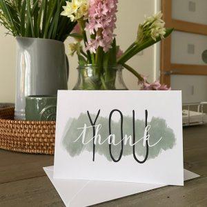 D&J thank you card